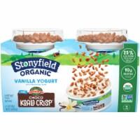 Stonyfield® Organic Vanilla Lowfat Yogurt with Choco Koala Crisp - 4 ct / 4 oz