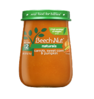 Beech-Nut Naturals Carrots Sweet Corn & Pumpkin Stage 2 Baby Food