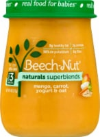 Beech-Nut Naturals Superblends Mango Carrot Yogurt & Oat Stage 3 Baby Food