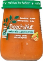 Beech-Nut Naturals Superblends Carrot Corn Chickpea Baby Food Jar