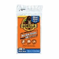 Gorilla  .27 in. Dia. x 4 in. L All Purpose  Mini Glue Sticks  Clear  10 pk - Case Of: 1; - Count of: 1