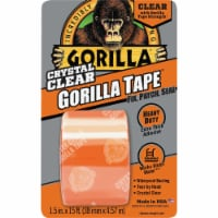 Gorilla® Crystal Clear Duct Tape - 15 ft