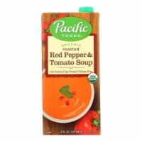 Pacific Natural Foods Red Pepper and Tomato Soup - Roasted - Case of 12 - 32 Fl oz. - 32 FZ