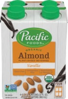 Pacific Organic Vanilla Almond Beverage 4 Count