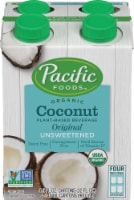 Pacific Foods Organic Unsweetened Coconut Beverage - 4 ct / 8 fl oz