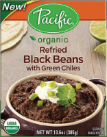Pacific Refried Black Beans with Green Chiles - 13.6 oz