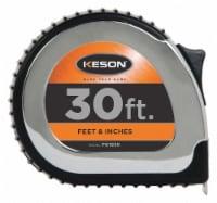 Keson Tape Measure,1 In x 30 ft,Chrome,Yellow HAWA PG1830