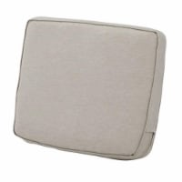 Classic Accessories 62-025-HGREY-EC Montlake FadeSafe Patio Lounge Back Cushion, Heather Grey - 1