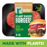 Raised & Rooted™ Plant Based Burger! Meat Alternative - 8 oz