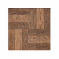 Portfolio 12x12 2.0mm Self Adhesive Vinyl Floor Tile - Walnut Parquet - 9 Tiles/9 sq. ft. - 1