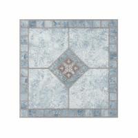 Portfolio 12x12 2.0mm Self Adhesive Vinyl Floor Tile - Blue Diamond - 9 Tiles/9 sq. ft. - 1
