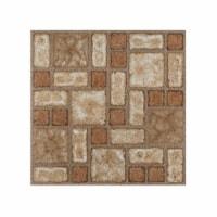 Portfolio 12x12 2.0mm Self Adhesive Vinyl Floor Tile - Cobble Mosaic - 9 Tiles/9 sq. ft. - 1