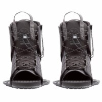 Hyperlite Frequency Adult Board Boot Bindings for Wakeboards, Black (Men's 6-12) - 1 Unit