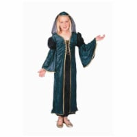 RG Costumes 91223-L Green Velvet Juliet Costume - Size Child-Large