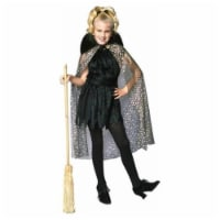RG Costumes 91276-L Large Child Glitter Witch with Cape Girl Costume - 1