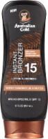 Australian Gold Instant Bronzer Lotion Sunscreen SPF 15