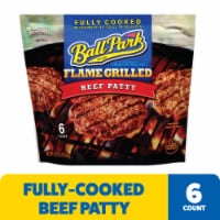 Ball Park Fully Cooked Flame Grilled Original Beef Patties