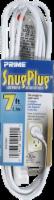 Prime SnugPlug Extension Cord - White