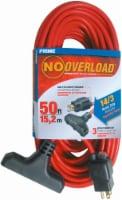 Prime No Overload Triple-Tap Circuit Breaker Extension Cord - SJTW 14/3 - 50 Foot - 50 ft