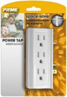 Prime 6-Side-Outlet Power Tap - White