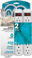 Prime 6 Outlet Surge Protector - White