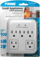 Prime 5-Outlet Small Appliance Surge Protector - White
