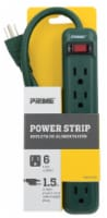 Prime 6-Outlet Power Strip - Green