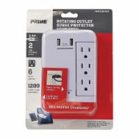 Prime Rotating Outlet Surge Protector - White
