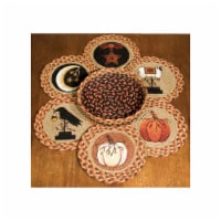 Capitol Importing Autumn - Set of 7 Trivets in a Basket