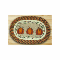 Earth Rugs 48-222HP Oval Shaped Placemat, Harvest Pumpkin