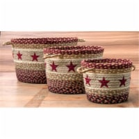 Earth Rugs 36-UBP357BSLG Printed Utility Basket, Burgundy Star, Large
