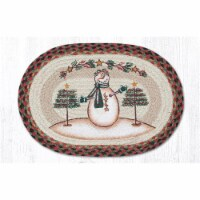 Capitol Importing 48-081MSS 13 x 19 in. Moon & Star Snowman Printed Oval Placemat - 1