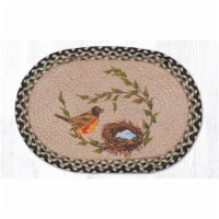 Capitol Importing 48-121RN 13 x 19 in. Robins Nest Printed Oval Placemat - 1