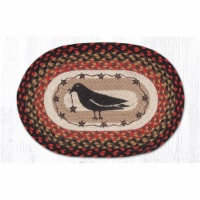 Capitol Importing 48-919CS 13 x 19 in. Crow & Stars Printed Oval Placemat - 1