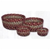 Capitol Importing 36-CB357 Burgundy, Gray & Cream Casserole Braided Basket - Set of 4 - 4
