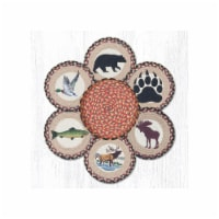 Capitol Importing 56-043W 10 in. Wildlife Jute Trivets in a Basket - 1
