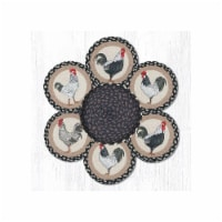 Capitol Importing 56-430R 10 in. Roosters Jute Trivets in a Basket - 1