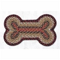 Capitol Importing 63-MD019DB 13 x 22 in. Burgundy & Mustard Medium Jute Braid Dog Bone Shape - 1