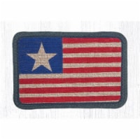 Capitol Importing 84-1032 Original Flag Wicker Weave Table Accent Trivet, 9 x 9 in. - 1
