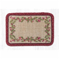 Capitol Importing 84-390C Cranberries Wicker Weave Table Accent Trivet, 9 x 9 in. - 1