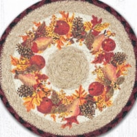 Capitol Importing 80-431AW 10 x 10 in. Jute Round Autumn Wreath Printed Trivet
