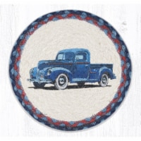 Capitol Importing 80-362BT 10 x 10 in. MSPR-362 Blue Truck Printed Round Trivet - 1