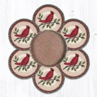 Capitol Importing 56-025HC 10 x 10 in. TNB-25 Holly Cardinal Trivets in a Basket - 1