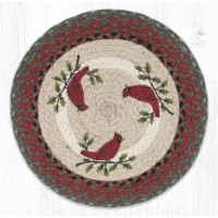 Capitol Importing 57-025HC 15 x 15 in. PM-RP-25 Holly Cardinal Printed Round Placemat - 1