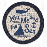Capitol Importing 80-079YMS 10 x 10 in. MSPR-79 You, Me & the Sea Printed Round Trivet - 1