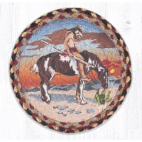 Capitol Importing 80-357ET 10 x 10 in. MSPR-357 End of Trail Printed Round Trivet - 1