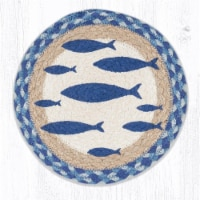 Capitol Importing 80-443F 10 x 10 in. MSPR-443 Fish Printed Round Trivet - 1