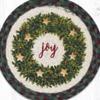 Capitol Importing 10 x 10 in. Christmas Joy Wreath Printed Round Trivet