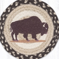 Capitol Importing 80-518B 10 x 10 in. MSPR-518 Buffalo Printed Round Trivet - 1