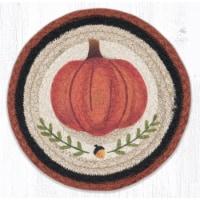 Capitol Importing 80-601PP 10 x 10 in. MSPR-601 Pumpkin Perfect Printed Round Trivet - 1